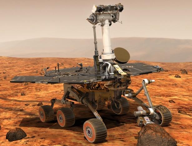 O robô Opportunity, da Nasa, percorreu a maior distância em Marte já coberta por um veículo feito pelo homem para explorar outro corpo celeste