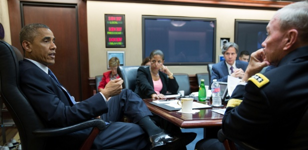 O presidente se reuniu com assessores de segurança nacional na Casa Branca