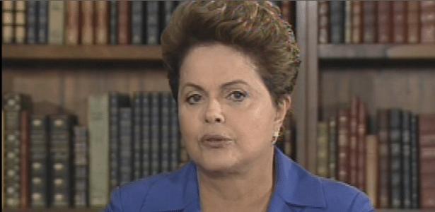 """Dilma Rousseff durante entrevista ao """"Jornal Nacional"""" na noite desta segunda (18)"""