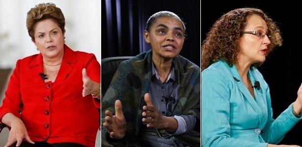 Com Marina Silva (PSB) candidata, eleições presidenciais de 2014 terão três mulheres no páreo pela primeira vez. São candidatas ainda a presidente Dilma Rousseff (PT) e Luciana Genro (PSOL)