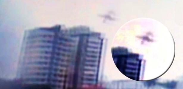 20.ago.2014 - Vídeo apresentado pelo Jornal da Globo na madrugada desta quarta-feira (20) mostra a queda do avião que matou o candidato à Presidência da República Eduardo Campos (PSB), em Santos, no último dia 13