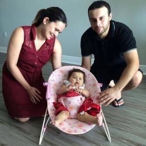 A bebê Sofia Gonçalves de Lacerda, em foto de quando tinha oito meses