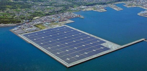 Projeto da maior central solar flutuante do mundo vai gerar energia para abastecer 920 casas no Japão