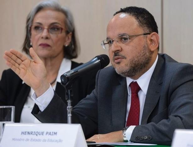 Ministro Henrique Paim na divulgação do Ideb 2013 nesta sexta (5)
