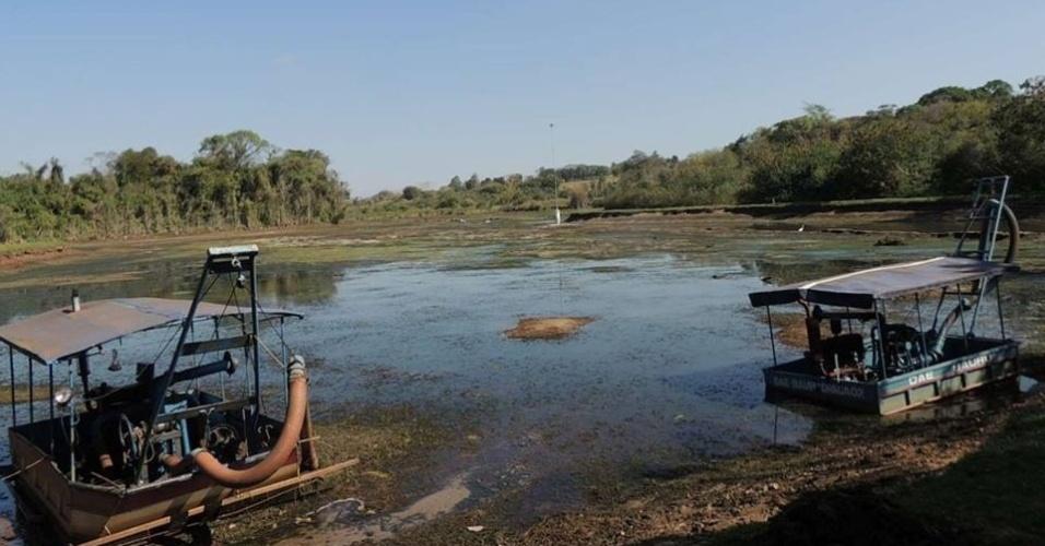 Reservatório de água em Bauru (SP) apresenta escassez devido à estiagem