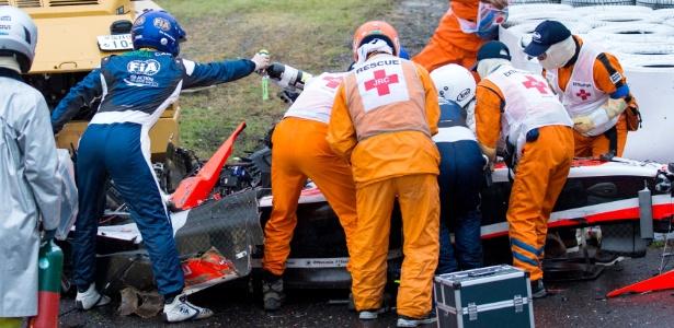 Acidente encerrou prematuramente o GP do Japão ano passado