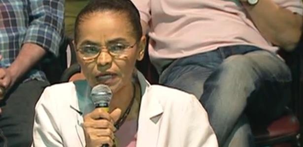 Marina Silva anuncia seu apoio a Aécio Neves no segundo turno neste domingo (12)