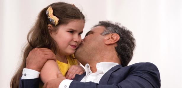 Aécio Neves esteve em Aparecida (SP) para acompanhar as celebrações do dia da padroeira do Brasil
