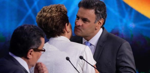 Os candidatos travaram nesta terça o primeiro debate do segundo turno desta eleição