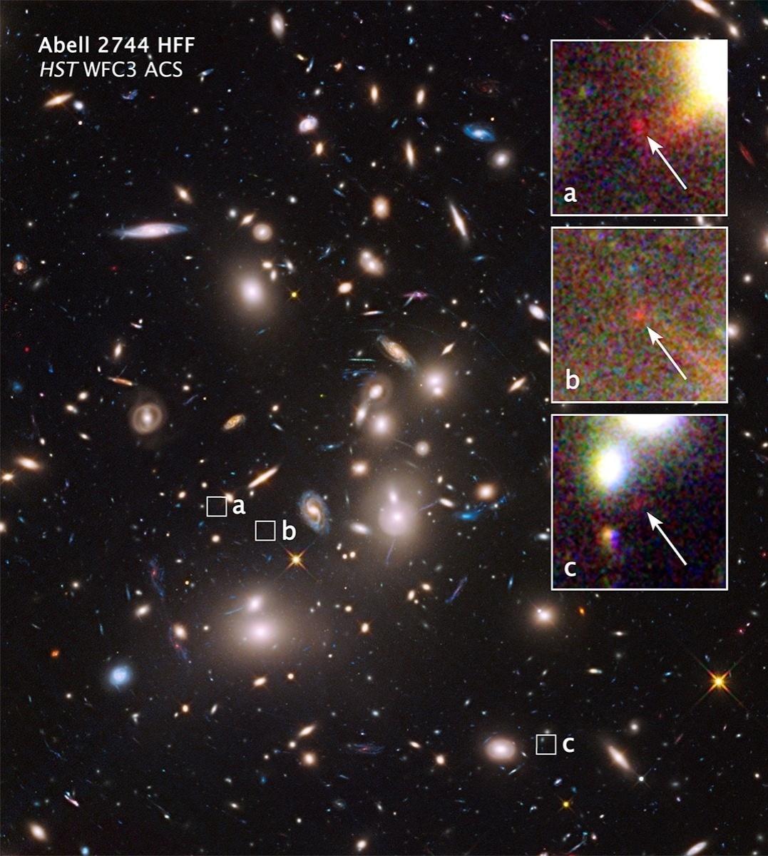 16.OUT.2014 - GALÁXIA MAIS DISTANTE - O telescópio especial Hubble da Nasa detectou uma das galáxias mais distantes já vistas, que é pequena e fraca, segundo a Nasa. Estima-se que ela esteja a mais de 13 bilhões de anos luz de distância. Esta galáxia oferece uma olhada no passado, nos anos de formação do universo