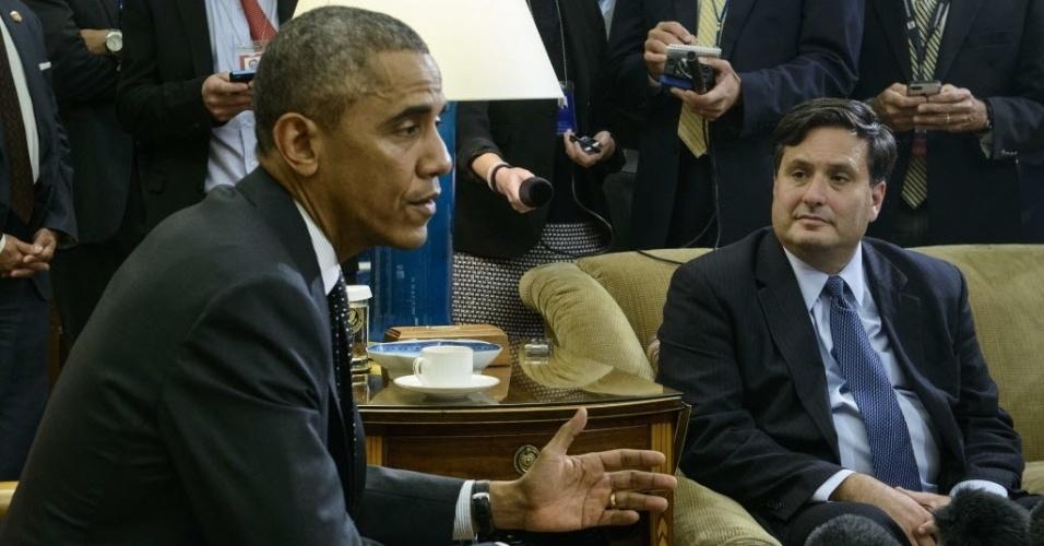 22.out.2014 - Presidente nos Estados Unidos, Barack Obama, se reúne com o
