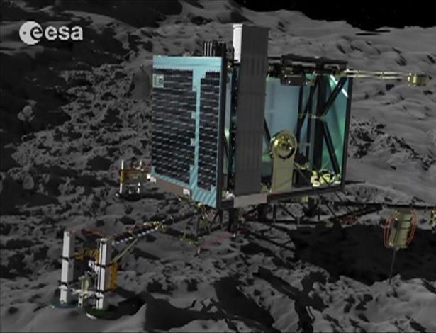 Imagem do robô Philae, que vai coletar amostras do cometa 67P