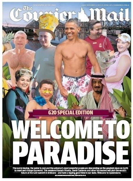 14.nov.2014 - O jornal australiano