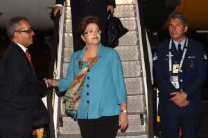 Dilma Rousseff chegou em Brisbane na noite desta quinta-feira para participar do encontro do G20