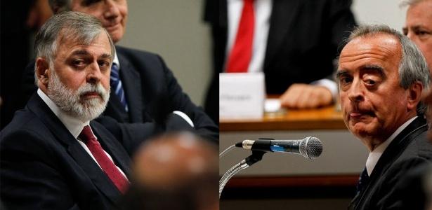 Paulo Roberto Costa (esquerda) e Nestor Cerveró participaram de acareação na CPI da Petrobras