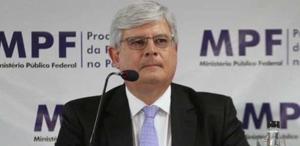 Procurador-geral da República, Rodrigo Janot, durante entrevista coletiva sobre a Operação Lava jato