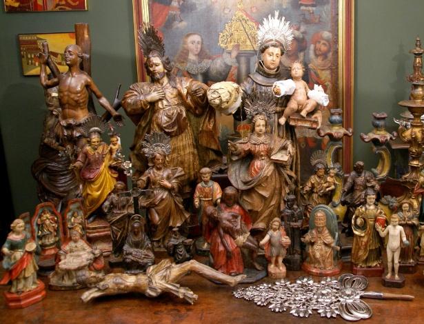 Obras da coleção de Jacques Joseph Boulieu e Maria Helena de Toledo que vão compor museu de arte sacra no centro histórico de Ouro Preto, em MG