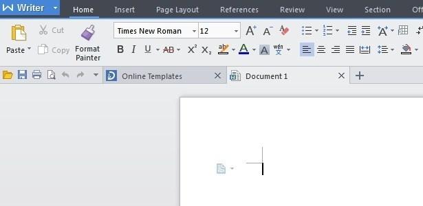 Editor de texto lembra o do Microsoft Office, mas não tem suporte ao dicionário português