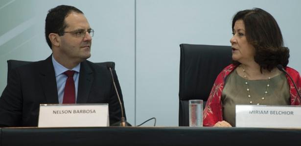 Nelson Barbosa assume o Ministério do Planejamento, comandado desde 2011 por Miriam Belchior, em cerimônia de transição, nesta sexta-feira (2), em Brasília