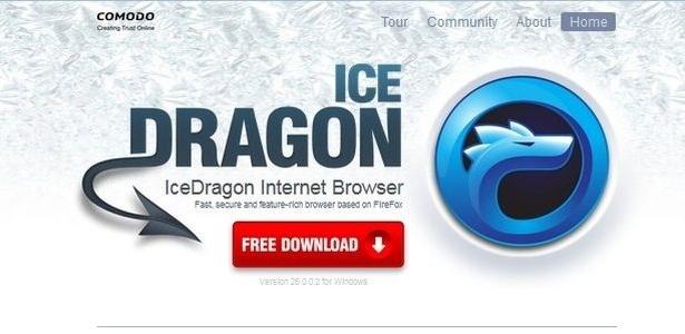 O IceDragon utiliza um sistema que reforça a segurança do usuário ao visitar páginas