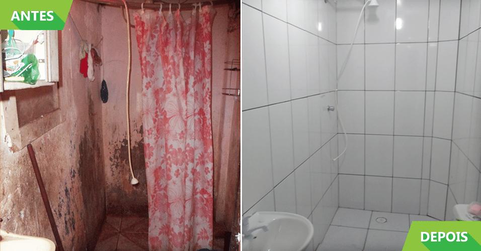 Veja o antes e depois das reformas do Projeto Vivenda  BOL Fotos  -> Reforma Banheiro Pequeno Antes E Depois