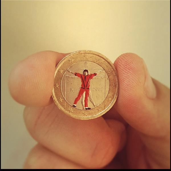O astro pop Michael Jackson também foi homenageado em moeda de euro que contém obra icônica de Leonardo Da Vinci