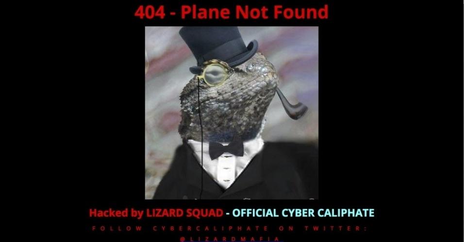 26.jan.2015 - O site oficial da Malaysia Airlines foi hackeado nesta segunda-feira (26) por um grupo que se autodenomina