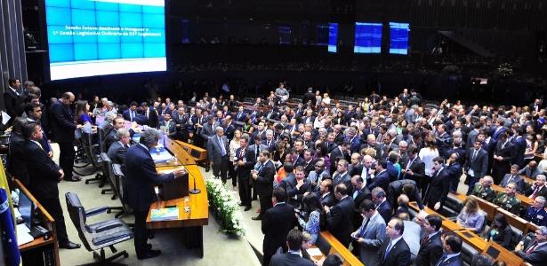 Sessão solene do Congresso Nacional inaugurou o ano legislativo da 55ª Legislatura