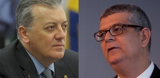 Aldemir Bendine (à esq.), novo presidente; e Ivan Monteiro (à dir.), diretor de Finanças
