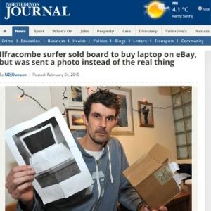 Paul Barrington, 38, comprou um MacBook por site de comércio eletrônico, mas recebeu uma foto do computador