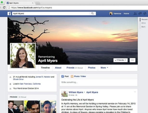 Após morte, amigo responsável por perfil no Facebook poderá postar mensagem de condolência