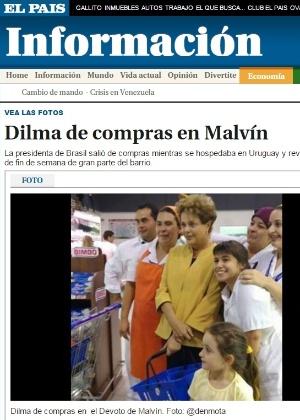 "Segundo o jornal ""El País"", Dilma foi vista comprando artigos básicos, como leite"