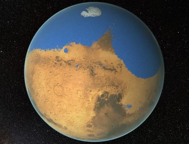 Segundo cientistas, Marte já teve um oceano tão extenso quanto o ártico, porém ele perdeu 87% de sua água no espaço