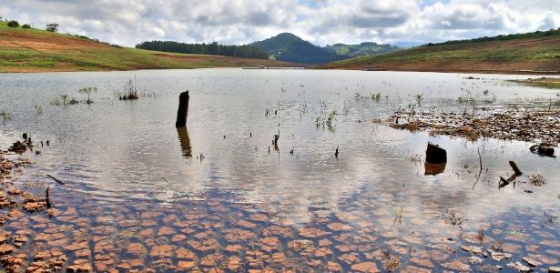 Represa Jaguari-Jacareí, localizada na cidade de Piracaia, que integra o Sistema Cantareira