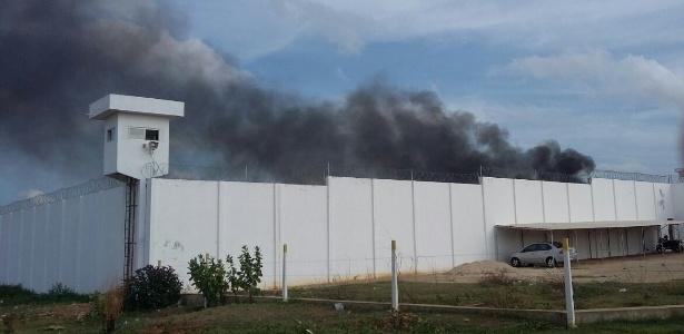 Rebelião em 2015 na Penitenciária Estadual do Seridó Desembargador Francisco Pereira da Nóbrega, o Pereirão, localizada em Caicó (RN)