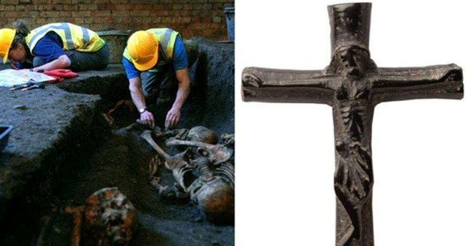 1º.abr.2015 - A escavação feita sob a faculdade foi conduzida por Craig Cessford, do departamento de arqueologia e antropologia de Cambridge, e uma equipe da Unidade de Arqueologia da universidade