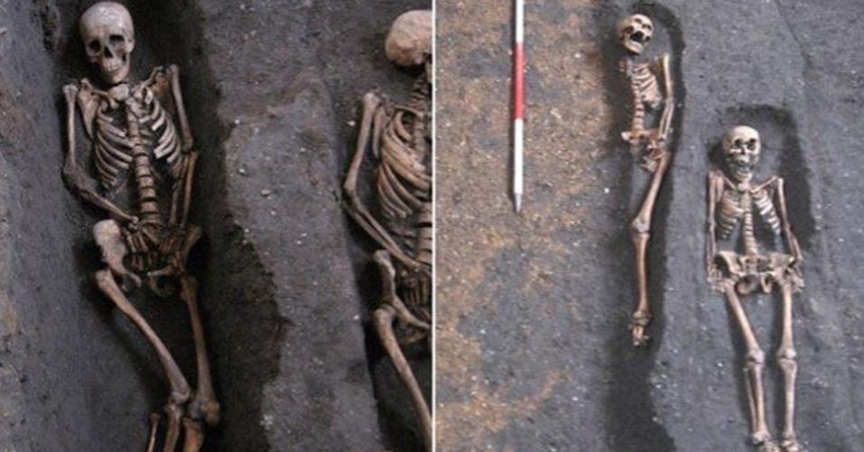 1º.abr.2015 - Os restos mortais encontrados sob a Universidade de Cambridge datam dos séculos 13 a 15. Os corpos são de pacientes do hospital St. John the Evangelist