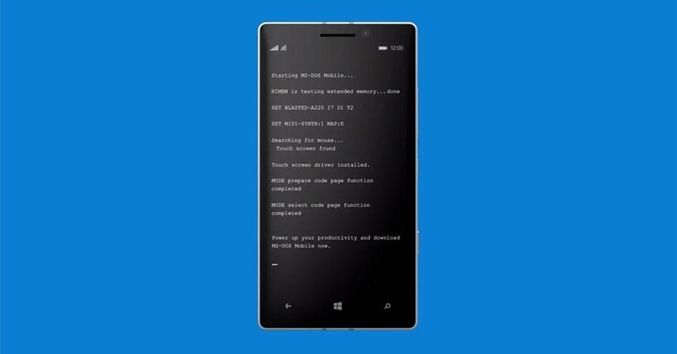 2015 - Em um vídeo publicado no YouTube, a Microsoft anunciou o lançamento MS-Dos para smartphones da Microsoft. A empresa levou a brincadeira tão a sério que desenvolveu até um aplicativo (falso!) que permite instalar o DOS no aparelho (http://zip.net/bhq16r)