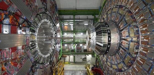 O Grande Colisor de Hádrons, um acelerador de partículas gigante