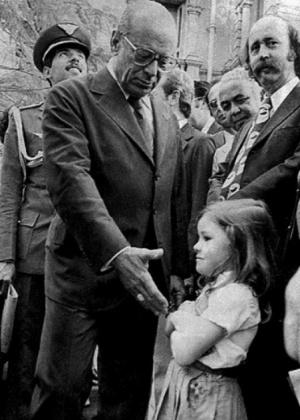 Em 1979, a menina Rachel se recusou a cumprimentar o então presidente João Baptista Figueiredo