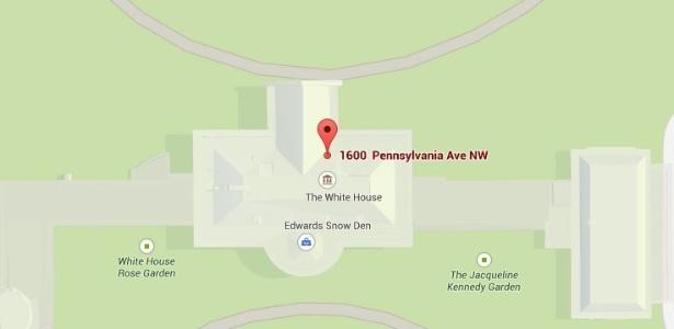 """Usuário aproveita """"falha"""" e insere local chamado """"Edward Snow den"""" na Casa Branca"""