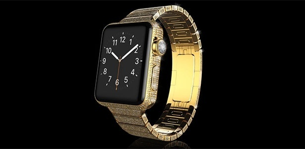 Apple Watch Diamond Ecstasy, personalizado pela Goldgenie, conta com ouro e diamante
