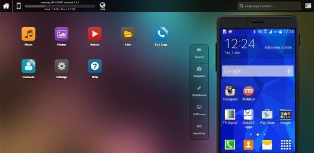 Enquanto o smartphone estiver conectado ao aplicativo, tudo o que foi feito no telefone aparecerá no computador (e vice-versa)