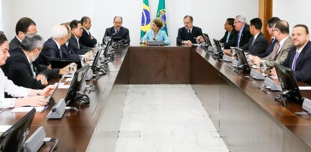 Na semana passada, Dilma se encontrou com representantes das centrais sindicais