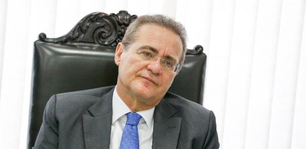 O presidente do Senado, Renan Calheiros (PMDB-AL), participa de reunião da mesa diretora do Senado
