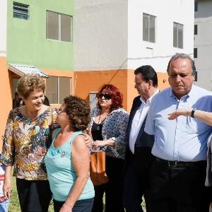Presidente Dilma Rousseff durante solenidade de entrega de casas no Rio de Janeiro