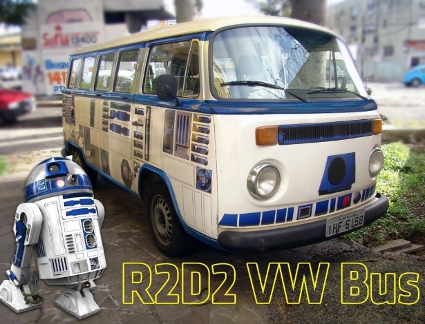 César Aguzzoli decidiu transformá-la no robô mais querido de Star Wars, o R2D2