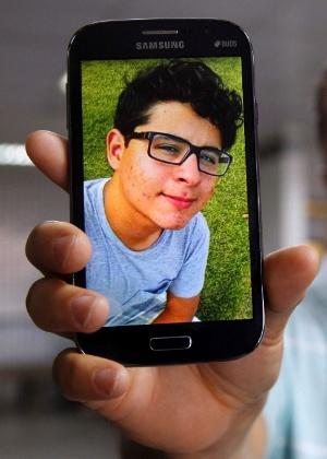 O jovem Pedro Arthur Brito Santa Cruz