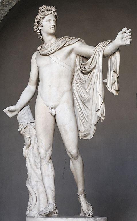 Apolo Belvedere, a mais célebre representação do deus Apolo. Original grego atribuído a Leocarés, hoje nos Museus Vaticanos