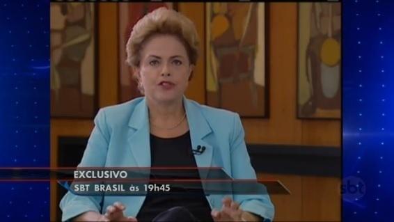 Presidente Dilma Rousseff afirma que não cogita renunciar em entrevista ao SBT